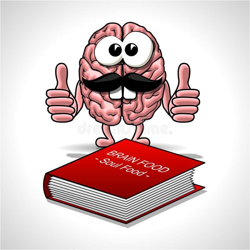 Download Еда мозга - еда души иллюстрация вектора. иллюстрации насчитывающей страница - 81800997