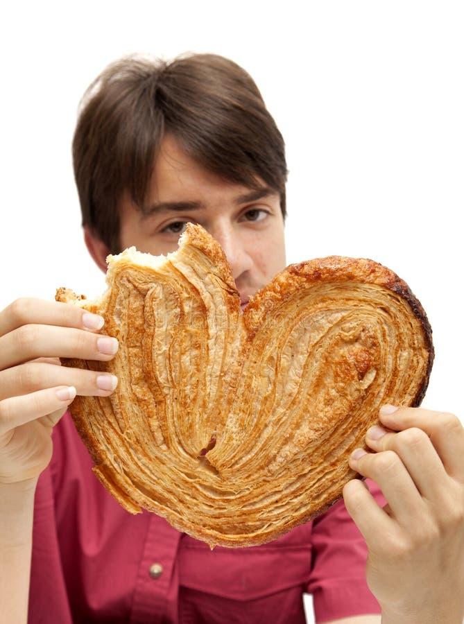 Еда огромного печенья palmerita стоковое фото rf