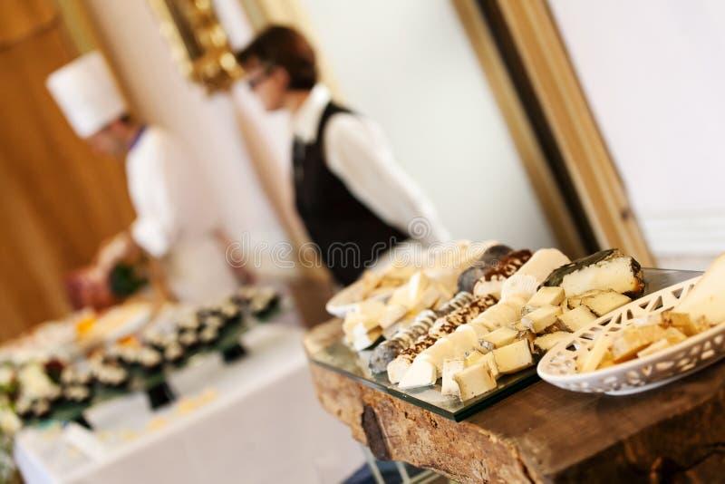 Еда доставки с обслуживанием свадьбы стоковое изображение rf