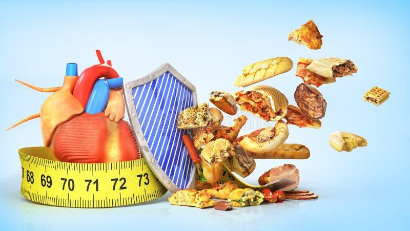 еда принципиальной схемы здоровая иллюстрация штока
