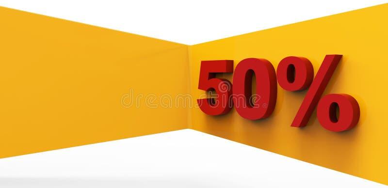 50 дела процентов предпосылки концепции иллюстрация штока