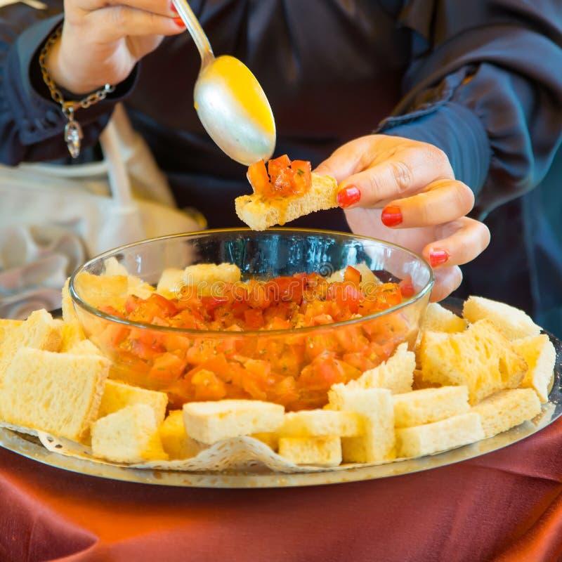 Еда ресторанного обслуживании стоковая фотография
