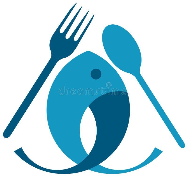 Еда рыб иллюстрация вектора