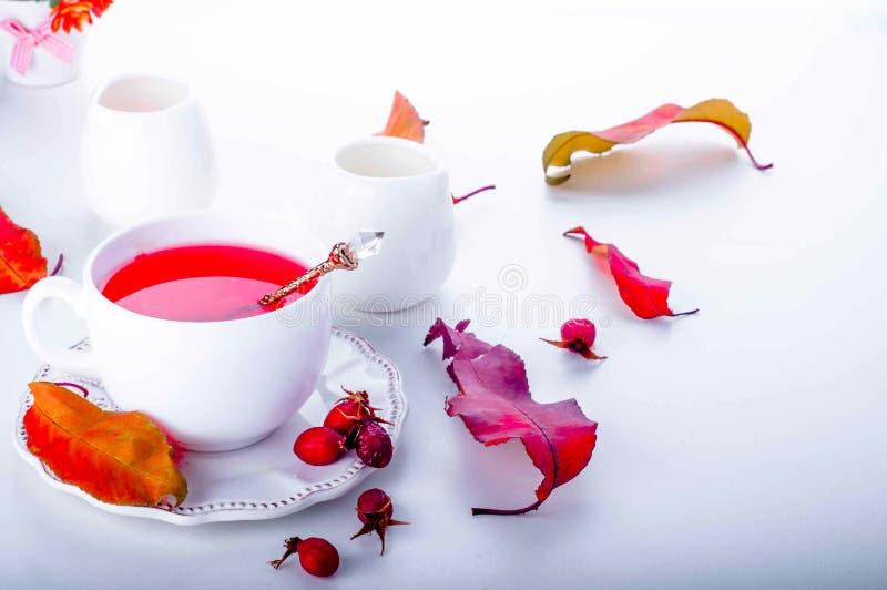 еда темы чая здоровой иллюстрации вальм розовой стоковое изображение