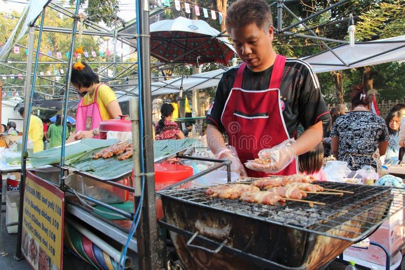 Еда улицы в Азии стоковое фото