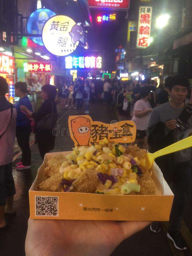 еда улицы, Тайвань стоковая фотография