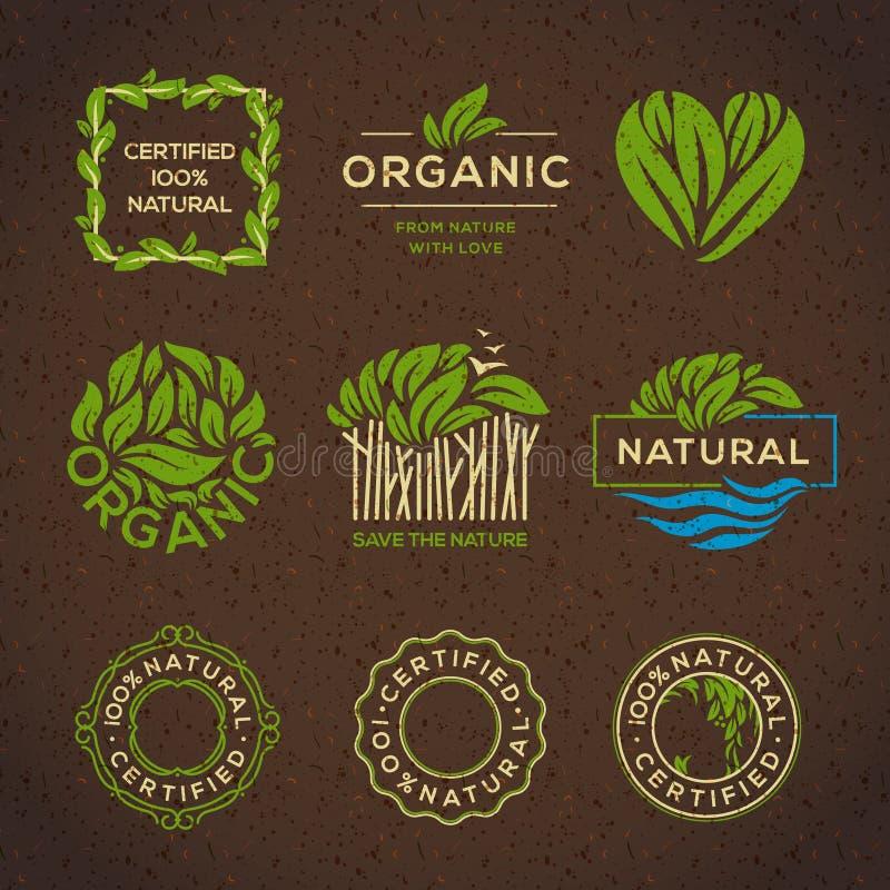 еда элементов обозначает органической бесплатная иллюстрация