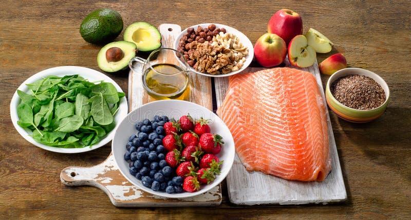 Еда для здорового сердца стоковая фотография rf