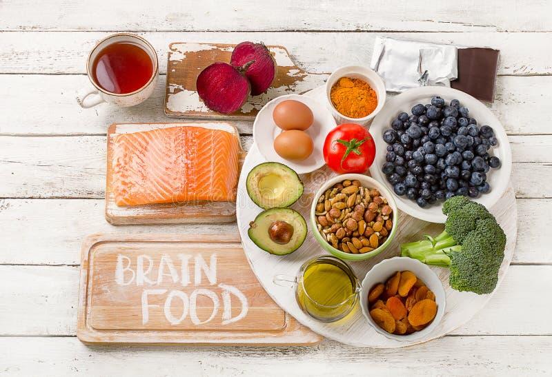 Еда для мозга еда принципиальной схемы здоровая стоковое фото rf