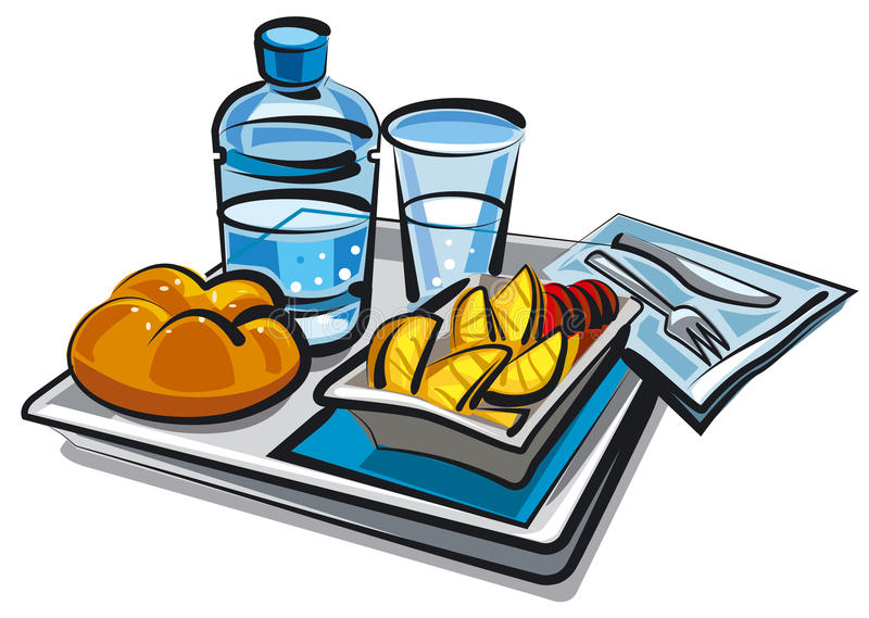 Еда для пассажиров иллюстрация вектора
