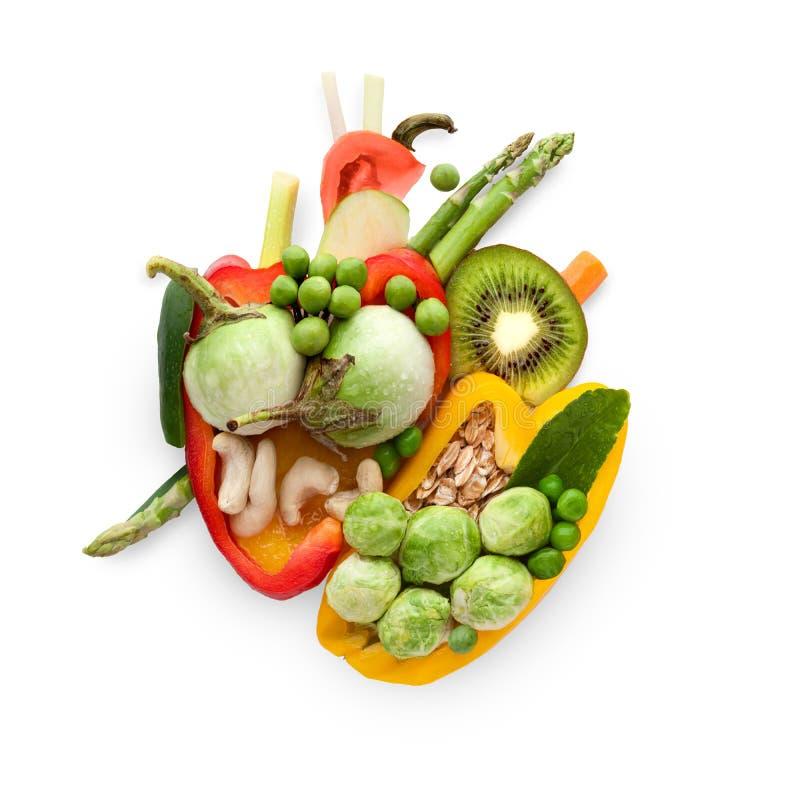 Еда для сердца стоковое изображение