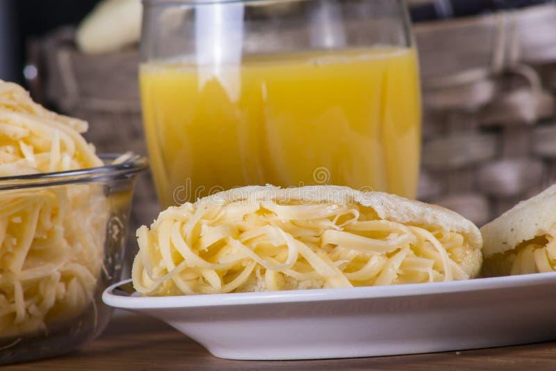Еда Arepas стоковое фото rf