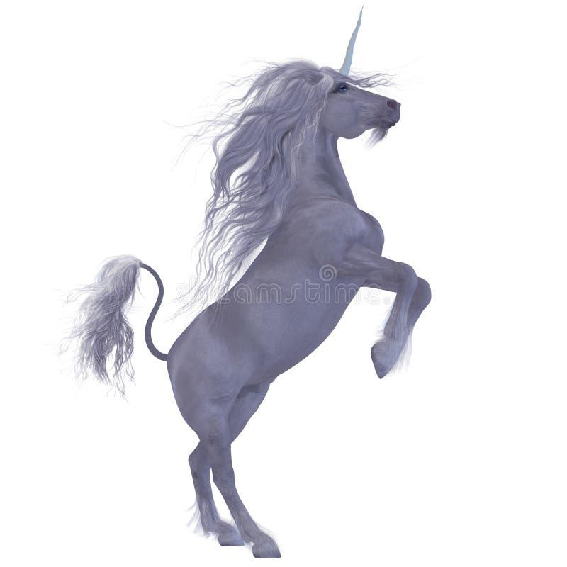 Единорог над белизной бесплатная иллюстрация