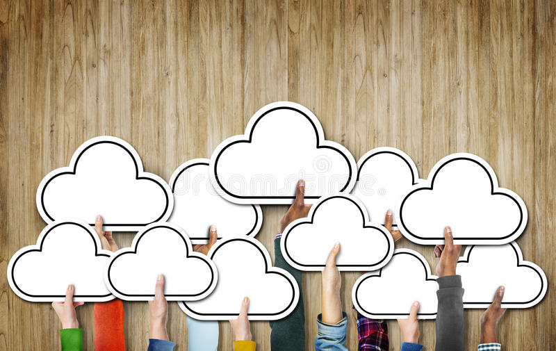 Единство Conce значка символа этничности разнообразного разнообразия облака этническое стоковые фото
