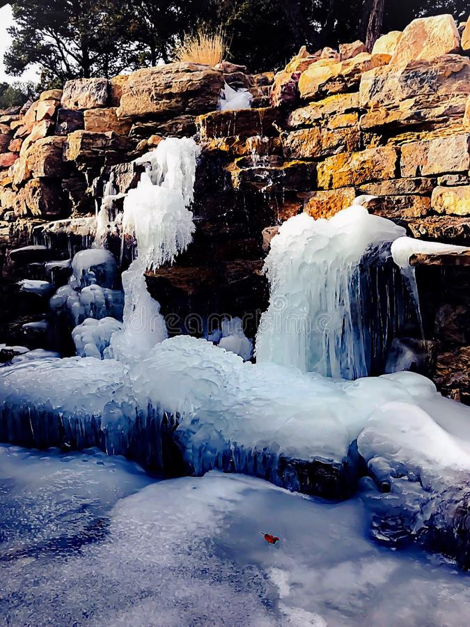 ледистые водопады стоковое фото