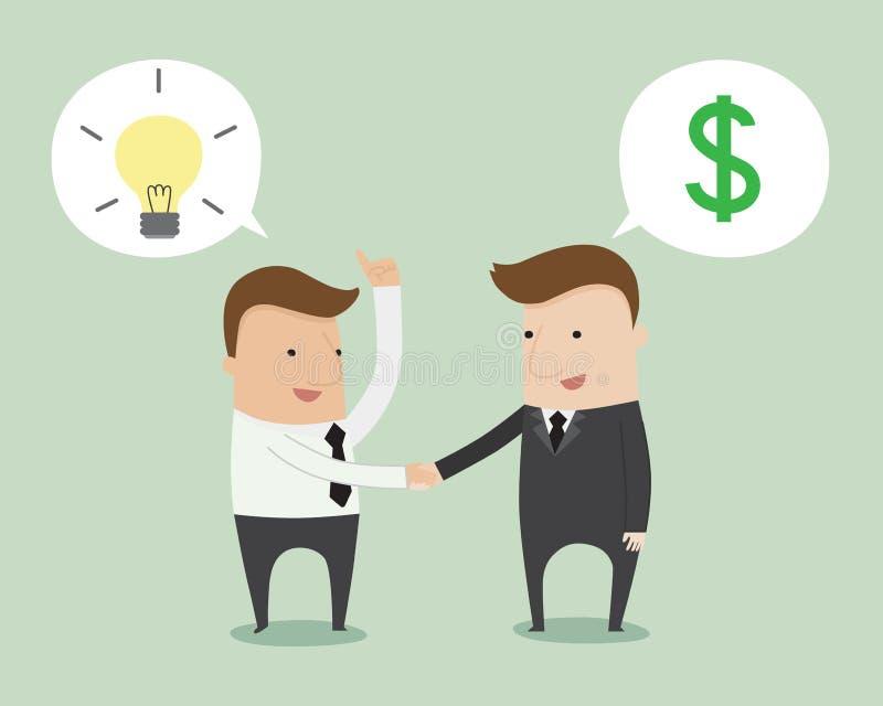 деловые переговоры иллюстрация вектора