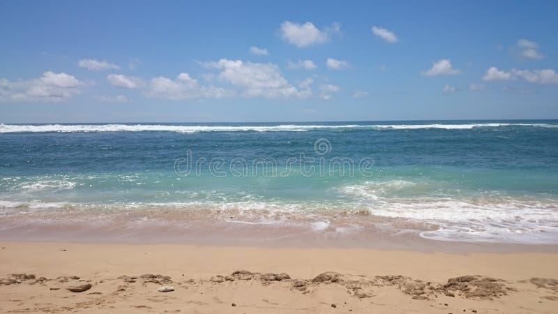 Жара лета на пляже стоковая фотография