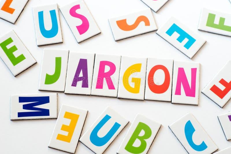 Жаргон слова сделанный красочных писем стоковая фотография rf