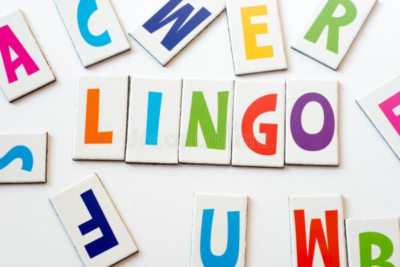 Жаргон слова сделанный красочных писем стоковое изображение rf