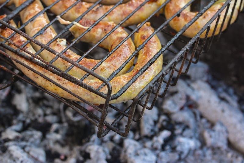 Жареные колбасы стоковые изображения rf
