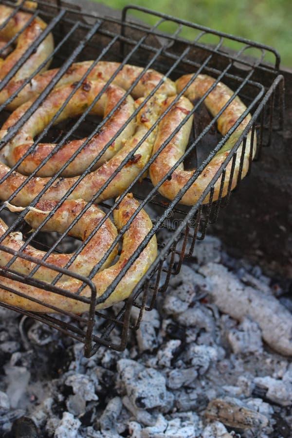 Жареные колбасы стоковое фото rf