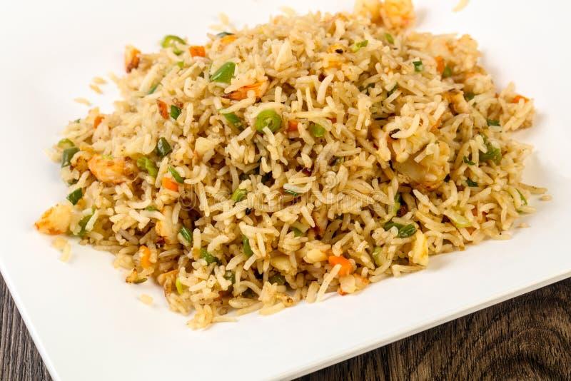 Жареные рисы с креветкой стоковое фото rf