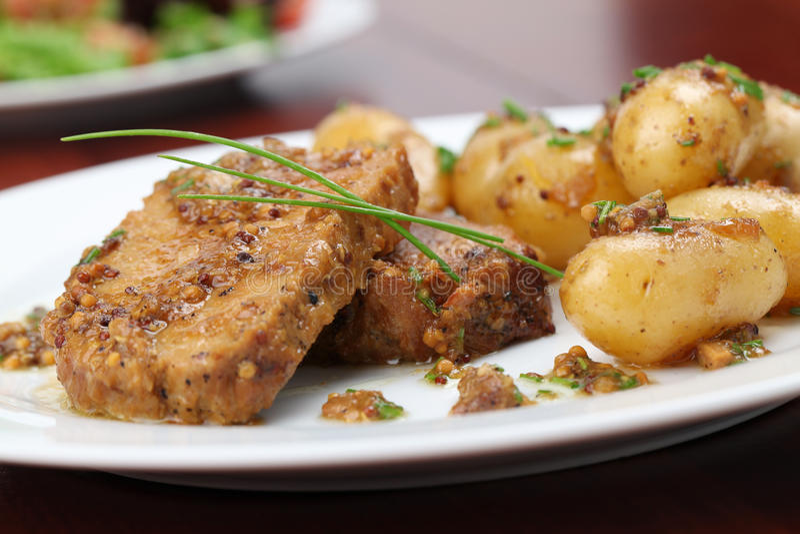 жаркое картошек свинины младенца стоковая фотография rf