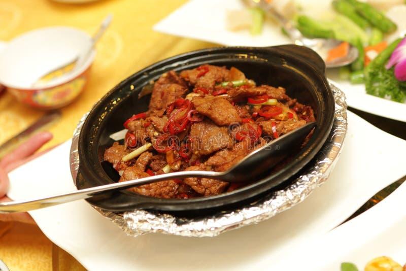 жаркое перца мяса красное стоковое фото rf