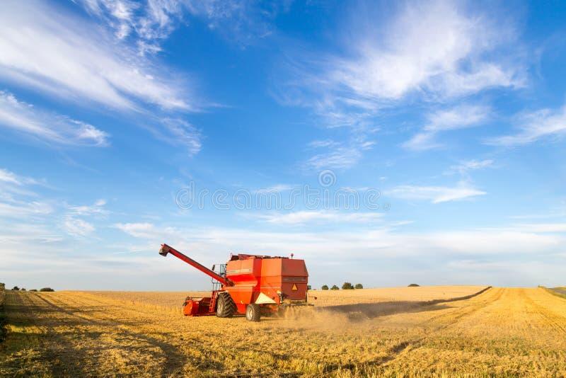 Жатка зернокомбайна на работе стоковое фото rf