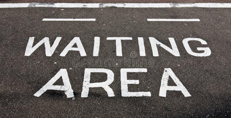 ждать асфальта зоны стоковые фотографии rf