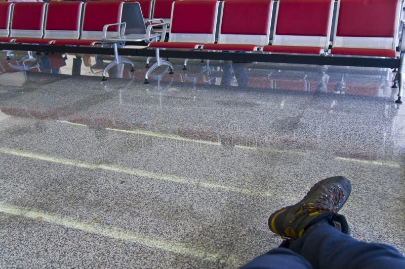 ждать путника зоны стоковое фото