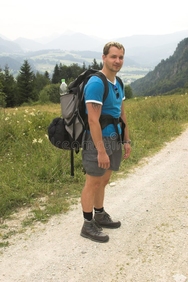 ждать hiker стоковые изображения