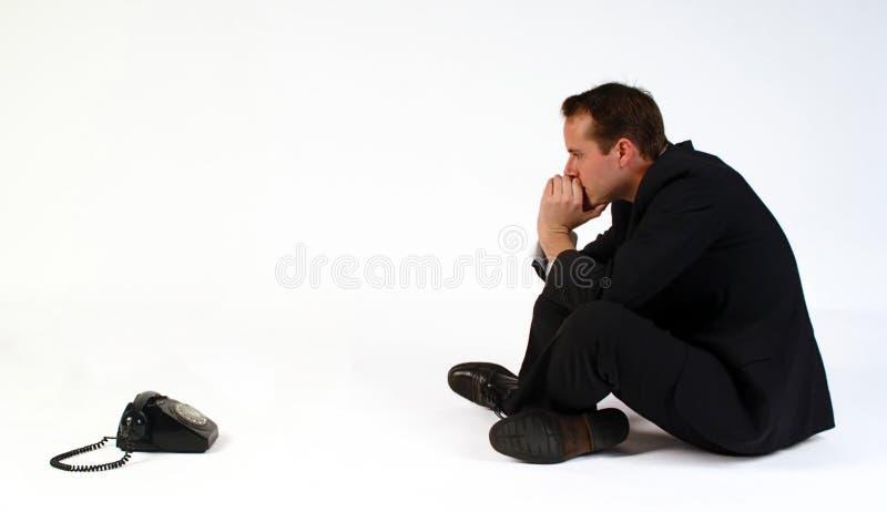 ждущий звонок стоковое изображение rf