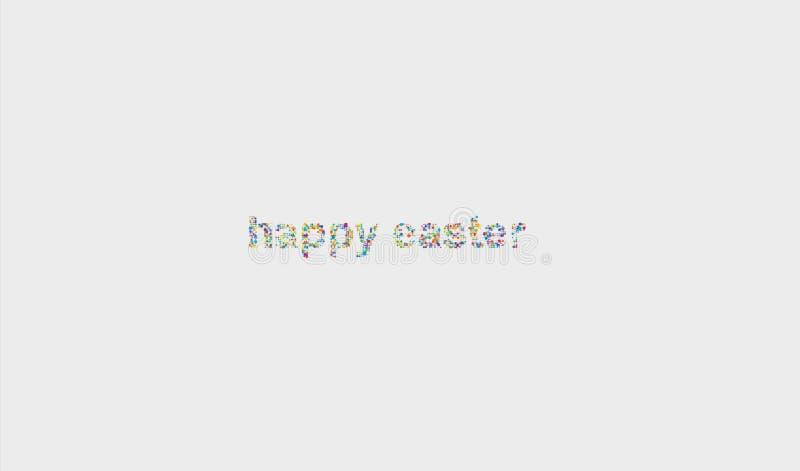 Желания сообщения шариков пасхи белой предпосылки счастливые красочн стоковое изображение