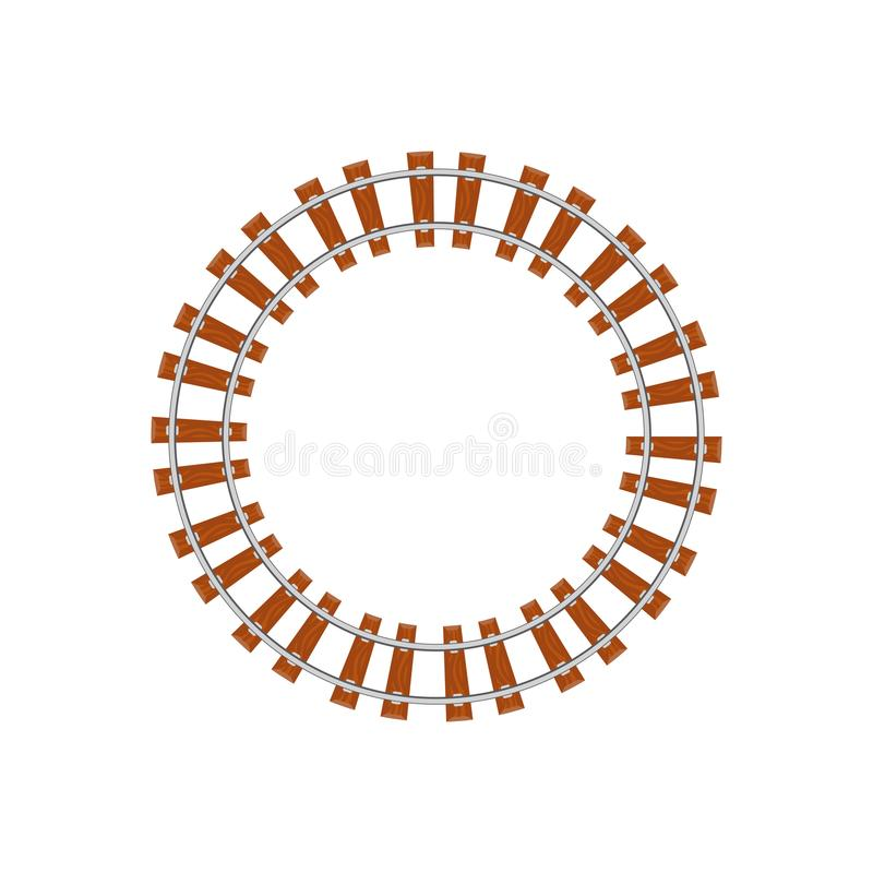 Железная дорога круга на белизне бесплатная иллюстрация