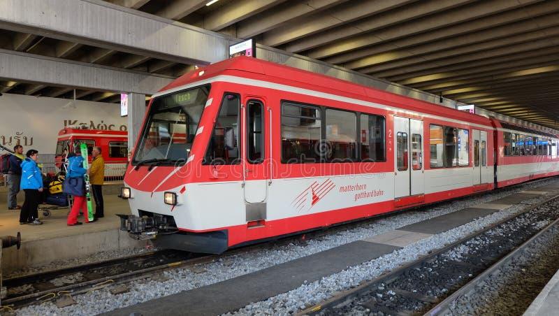 Железная дорога Маттерхорна Gothard, Швейцария стоковое изображение rf