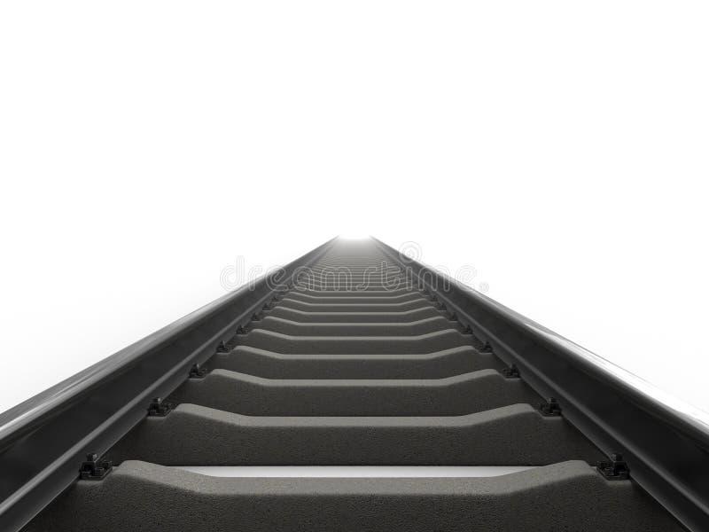железная дорога иллюстрация штока