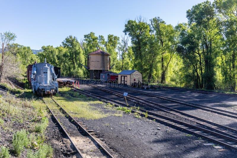 Железная дорога Cumbres & Toltec сценарная стоковая фотография
