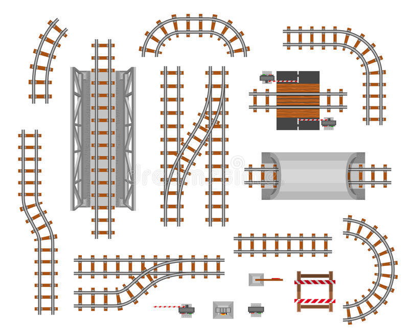 Железнодорожная платформа и фура иллюстрация штока