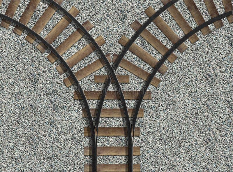 железнодорожные следы иллюстрация штока