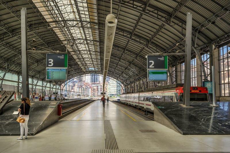 Железнодорожный вокзал Бильбао стоковая фотография