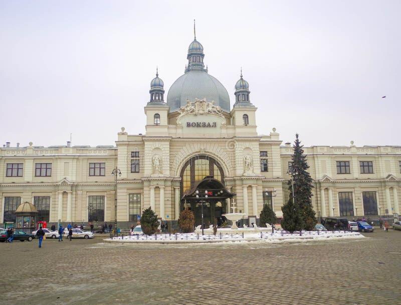 Железнодорожный вокзал в Львове стоковое изображение rf