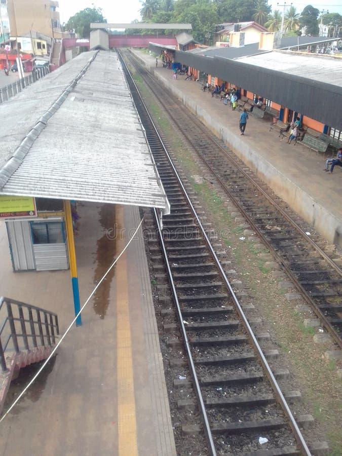 Железнодорожный вокзал в Шри-Ланке стоковые изображения rf