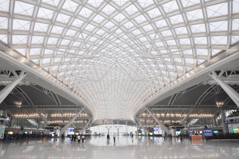 Железнодорожный вокзал Гуанчжоу стоковое фото