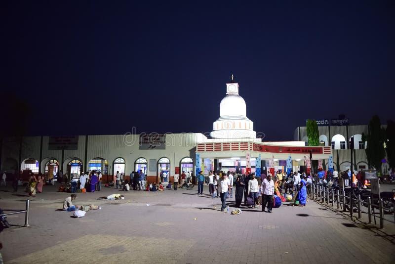 Железнодорожный вокзал karnataka Индия Gulbarga стоковые изображения