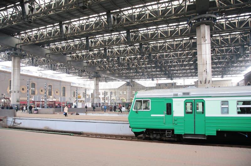железнодорожный вокзал kazan moscow стоковые изображения