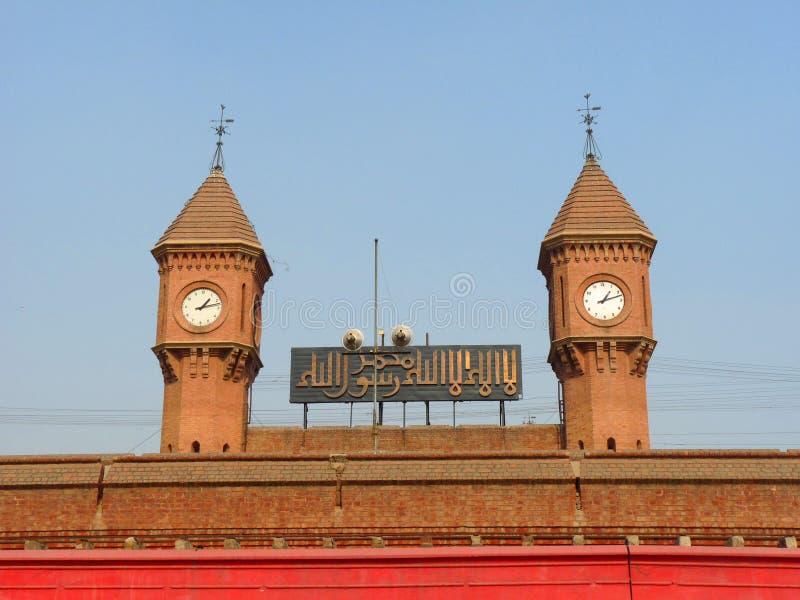железнодорожный вокзал lahore Пакистана стоковая фотография