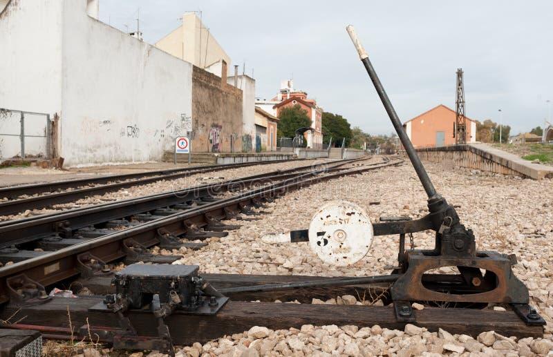 железнодорожный переключатель стоковые фотографии rf