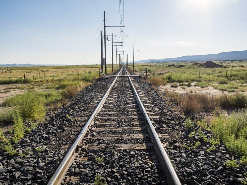 Железнодорожный путь безграничности стоковые фото