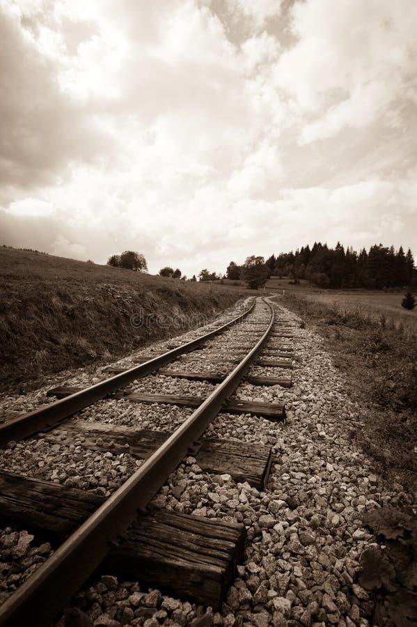 железнодорожный след стоковые изображения